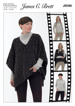 120d407f5 Tabard and Sweater in James C. Brett DK with Merino and Flutterby Animal  Prints Super