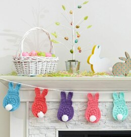 Bunny Garland in Red Heart With Love Solids - LM6093 - Downloadable PDF