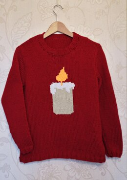 Intarsia - Candle Chart - Adults Sweater