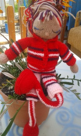 Knitted Doll Jackets for a 15 inch doll