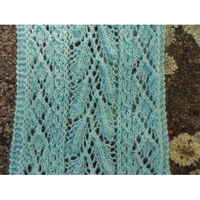 Mint Leaf Lace Scarf Knitting Pattern By Melody Hadley Knitting