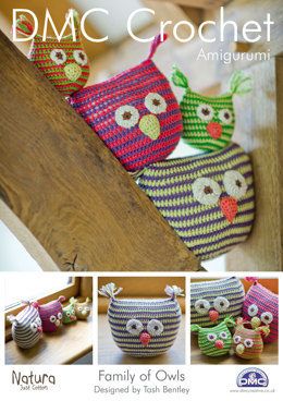 Family of Owls Toys in DMC Natura Just Cotton - 14934L/2