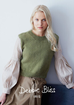 """Hazel Top"" - Top Knitting Pattern For Women in Debbie Bliss Iris"