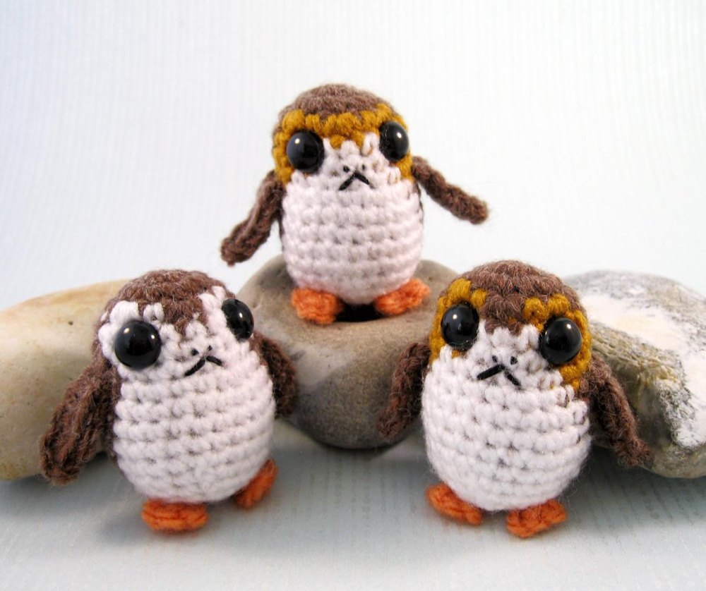Porg - Star Wars Mini Amigurumi Crochet pattern by Lucy Collin