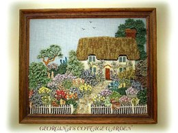 ENGLISH COUNTRY GARDEN knitting pattern cottage garden by Georgina Manvell