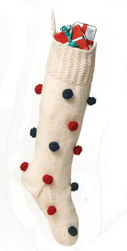 Decorated Christmas Stocking in Lion Brand Wool-Ease - 50457