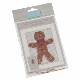 Groves Cross Stitch Kit: Card: Gingerbread Man