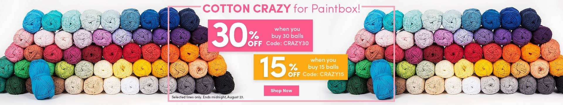 LC Marketing - Paintbox Cotton 30% off 30 balls Aug 2017