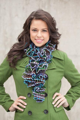 Ruffled Scarf in Rozetti Spectra