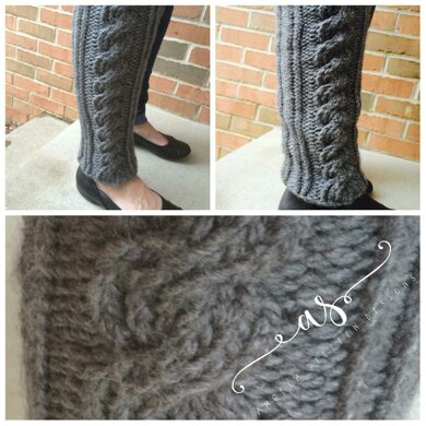 Ribbed Cable Legwarmers Loom Knitting Pattern By Angela Steffen