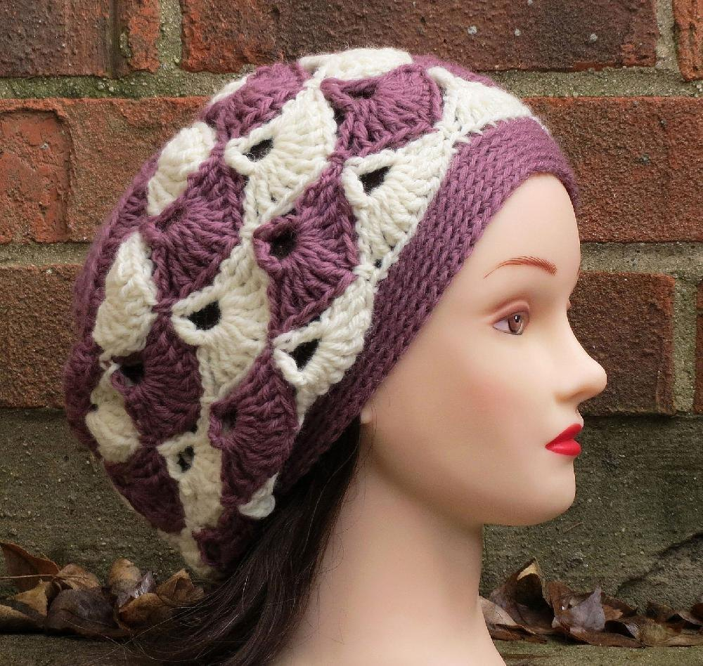 Enna slouchy beret crochet pattern by justine walley knitting zoom bankloansurffo Images