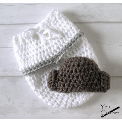 Princess Leia Baby Swaddle Sack and Hat Crochet pattern by You Crochet 83585d855b1