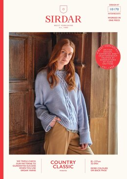 Wide Sleeve Detail Jumper in Sirdar Country Classic Worsted - 10170 - Downloadable PDF
