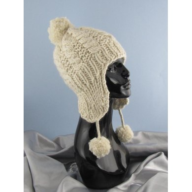 Big Bobble Superfast Cable Trapper Beanie Hat