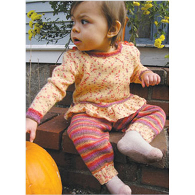 Dotted Stripes Baby Set in Knit One Crochet Too Ty-Dy Socks - 1876