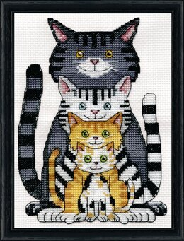 Design Works Cats Counted Cross Stitch Kit