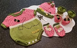 Watermelon Baby Romper Onsie Set