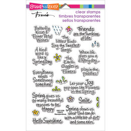 Stampendous Perfectly Clear Stamps - Spring Sentiments