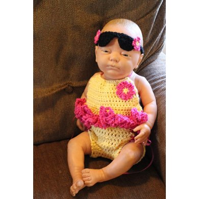 Made In The Shade Halter Suit and Sunglasses Headband