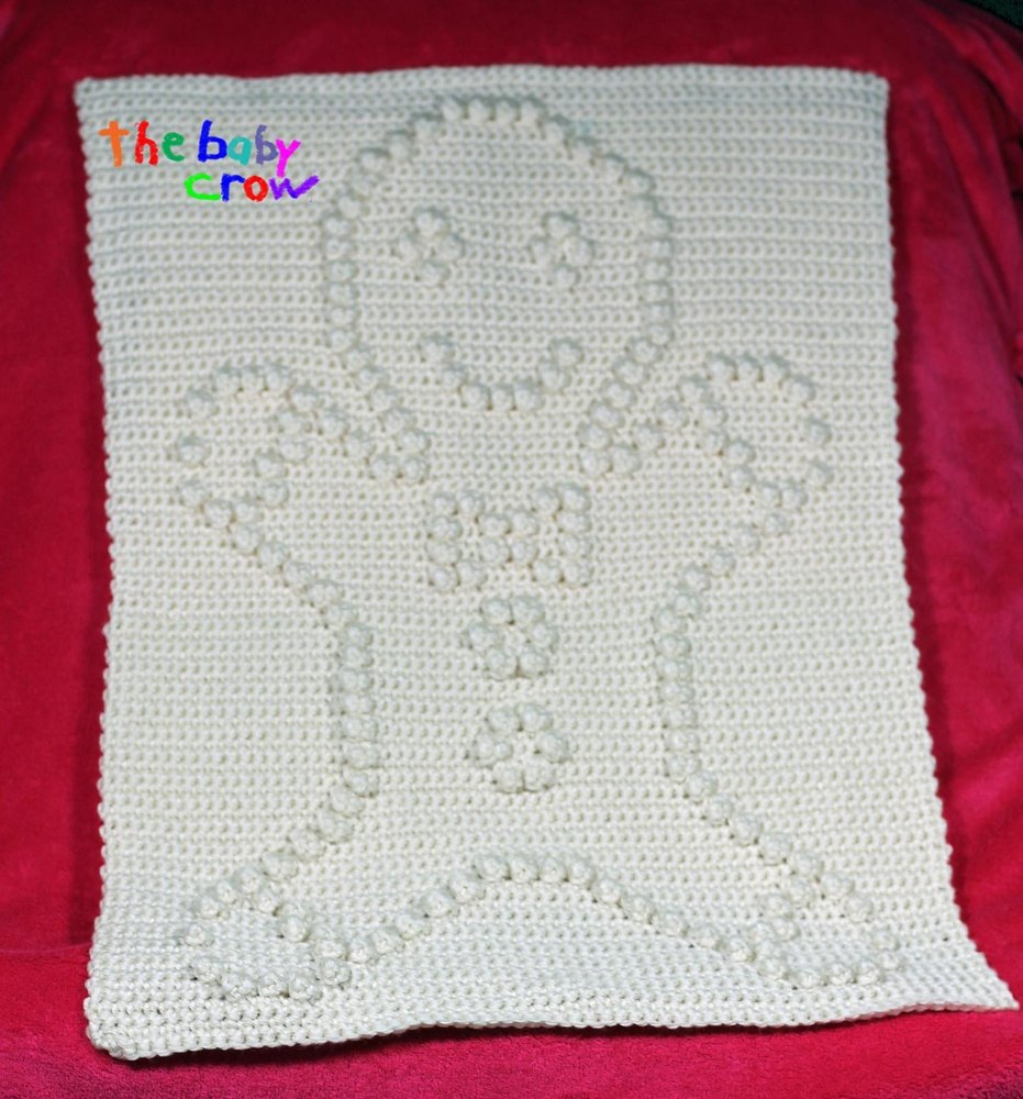 Gingerbread Blanket Knitting Pattern : Gingerbread Man Blanket Block Crochet pattern by The Baby Crow Knitting Pat...