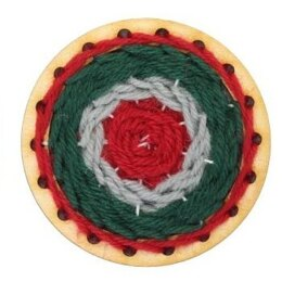 Hawthorn Handmade Go Weave Brooch Kit- Red, Green & Light Grey