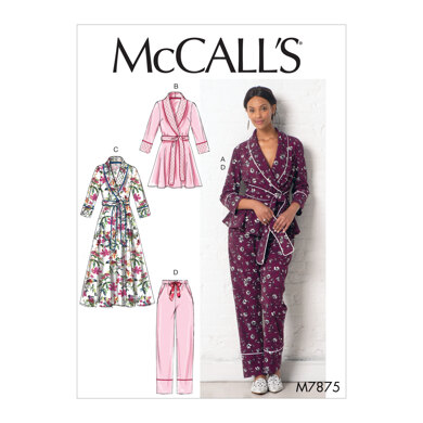 McCall's Misses' Jacket, Robe, Pants and Belt M7875 - Sewing Pattern