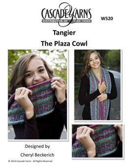 The Plaza Cowl in Cascade Yarns Tangier - W520 - Downloadable PDF