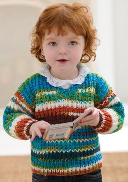Baby Sweater in Red Heart Super Saver Economy Prints - LW2333
