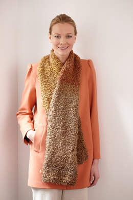 Simple One Ball Scarf in Lion Brand Homespun Thick & Quick - L30125C
