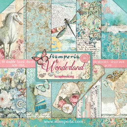 "Stamperia Intl Stamperia Double-Sided Paper Pad 12""X12"" 10/Pkg - Wonderland, 10 Designs/1 Each"