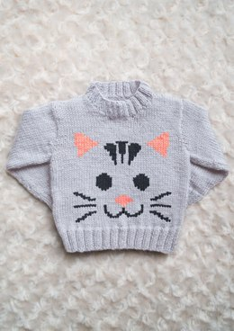 Intarsia - Cat Face Chart & Childrens Sweater