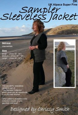 Sampler Sleeveless Jacket in UK Alpaca Super Fine DK (Downloadable PDF)