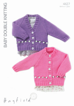 Cardigans in Hayfield Baby DK - 4427 - Downloadable PDF