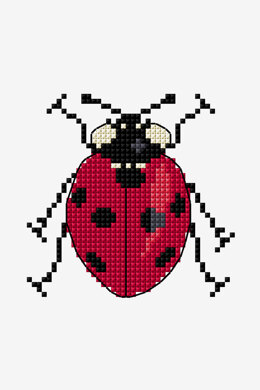 Seven Spot Lady Bug  in DMC - PAT0681 -  Downloadable PDF