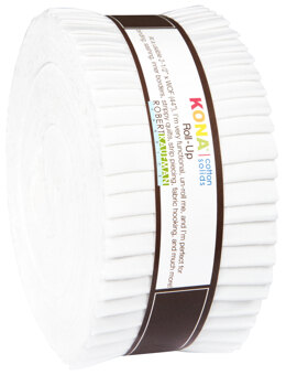 Robert Kaufman Kona Cotton Solids 2.5in Strip Roll - RU-190-40