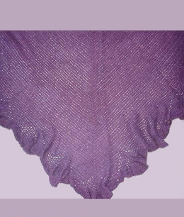 Crochet Ruffled Shawl in Windy Valley Muskox Qiviut