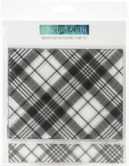 """Concord & 9th Clear Stamps 6""""X6"""" - Woven Plaid Background"""