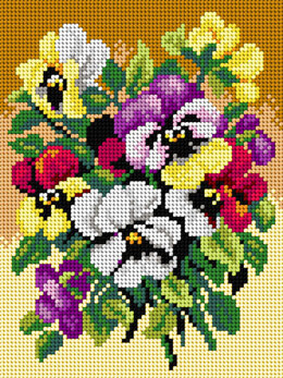 Orchidea Bunch of Pansies Tapestry Canvas