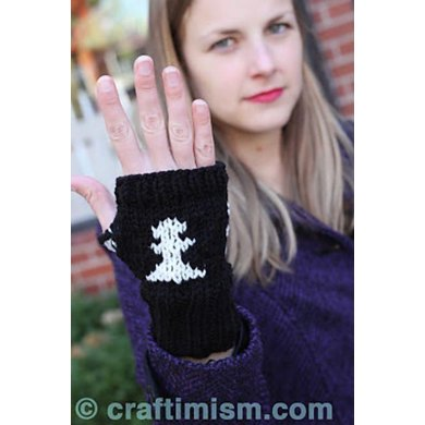 Chess Fingerless Mitts