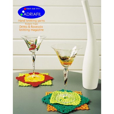 Underglasses and Pot Holders in Adriafil Memphis and Cheope
