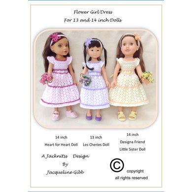 LC12 Flower Girl Dress for 13 and 14 inch Dolls
