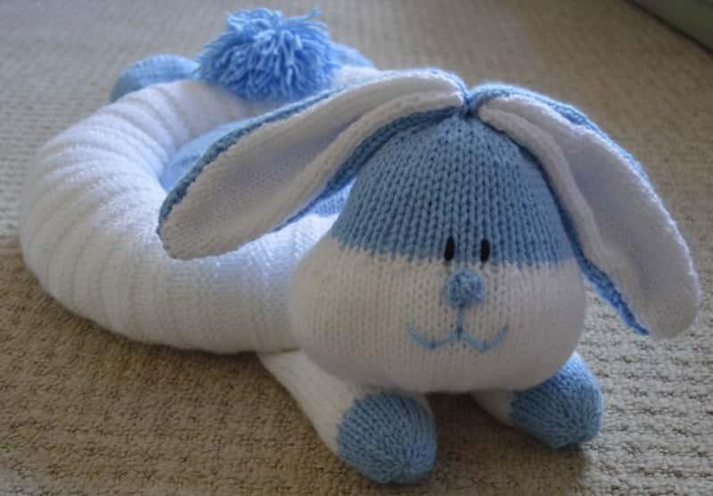 Knitting By Post Facebook : Rabbit snuggler knitting pattern by post