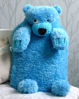 Hot Water Bottle Cover in Wendy Four Legged Friends Bobby Bear Scarf Kit - Downloadable PDF