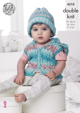 Baby Set in King Cole DK - 4310 - Downloadable PDF