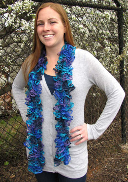 One Skein Scarf in Rozetti Marina