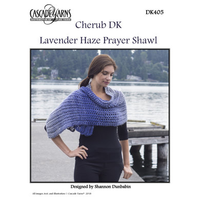 Lavender Haze Prayer Shawl in Cascade Yarns Cherub DK - DK405
