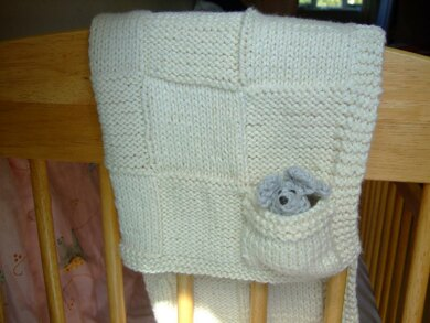 Simply Squared Baby Blanket with Peekaboo Mousie