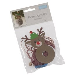 Trimits Pom Pom Reindeer Kit - 11 x 5cm