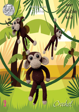 Chimps Toys in King Cole Pricewise DK - 9047 - Leaflet