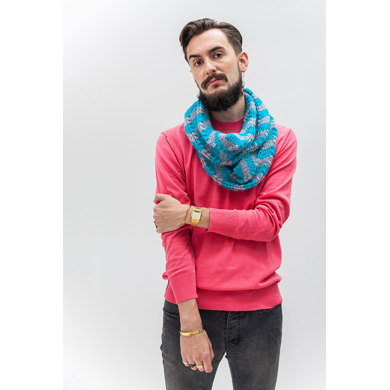 """Raphael Cowl"" : Cowl Knitting Pattern for Men in Debbie Bliss Super Bulky 